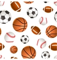 Sport balls for soccer basketball baseball and vector image