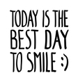 Today good day smile doodle vector image
