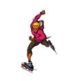 Close-up of man skating vector image vector image