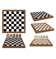 set of chessboards vector image vector image