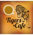 Tigers Cafe vector image vector image