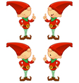 Red Elf Having An Idea vector image