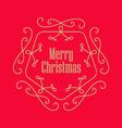Christmas vintage greeting card Elegant Monogram vector image
