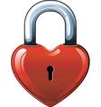 heart lock vector image