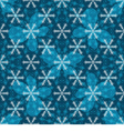 Seamless blue christmas pattern vector image