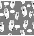 seamless texture speaking people vector image