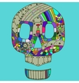 Decorative Skull Head in vector image