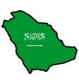 Map in colors of Saudi Arabia vector image vector image