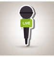 microphone isolated design vector image