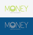 alphabet design money business concept vector image