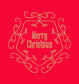 Christmas vintage greeting card Elegant Monogram vector image