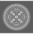 Ethnic round element flower mandala vector image