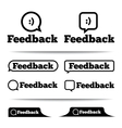 Feedback labels Feedback tags Feedback tab vector image