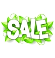 Green Nature Sale Announcement vector image