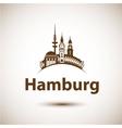 Hamburg Skyline abstract vector image