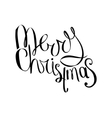 Merry christmas phrase isolated on white vector image