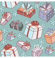 pattern gifts snow vector image