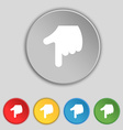 pointing hand icon sign Symbol on five flat vector image