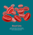 realistic blood erythrocyte card poster vector image