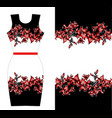 red lilies print design for dress vector image