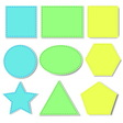 Different shapes vector image vector image