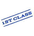1st Class Watermark Stamp vector image