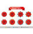 set of blood cells types medical and healthcare vector image vector image