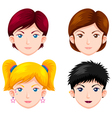 Set of women faces vector image