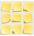 sticky note with shadow isolated on transparent vector image