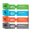 Modern business banner box infographic vector image vector image