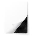 Metal grid under a sheet of paper vector image vector image
