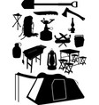 camping equipment vector image
