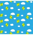Sky Dragon and Cloud Seamless Pattern Background vector image