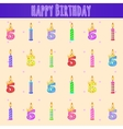 Happy birthday pattern five years and candles vector image