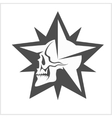 Star with skull - element for tattoo and vector image