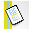 Realistic mobile devises with Big sale inscription vector image vector image
