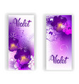 Banner with Bright Violets vector image