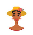 beautiful african american young woman in stylish vector image