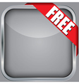 Blank app icon with free ribbon vector image