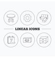 Corner sofa table and nightstand icons vector image