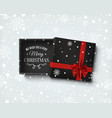 merry christmas design gift box with on winter vector image