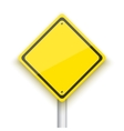 Road Sign Realistic EPS10 Yellow vector image