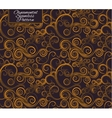 Seamless pattern with curls Golden ornament vector image