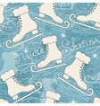 Seamless pattern with skates vector image