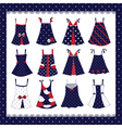 Set of dresses vector image