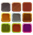 Set of square app icons vector image