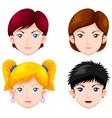 Set of women faces vector image