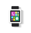 smart watch interface with media icons vector image