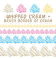 Whipped cream and border colorful brush set vector image