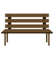 wooden bench on white background vector image